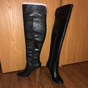 NWT Size 7 Black Knee-High Boots